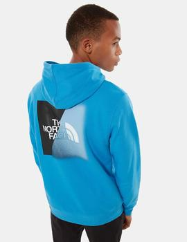 M GRAPHIC HOODIE PULLOVER  ME91 - CLEAR LAKE BLUE/