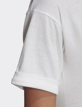 Camiseta Adidas CROP TOP - Blanco