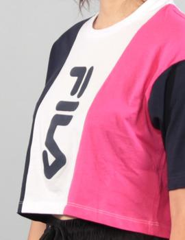 Camiseta Fila WOMEN BAI - pink yarrow/black iris/bright