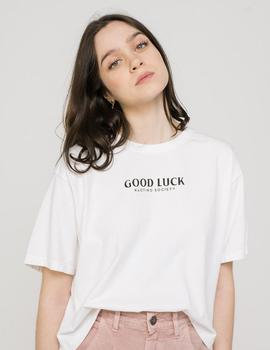 Camiseta Kaotiko TIE DYE GOOD LUCK - Blanco