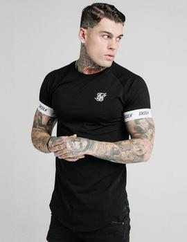Camiseta Siksilk RAGLAN TECH TEE - Black