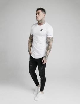 Camiseta Siksilk RAGLAN TECH TEE - White