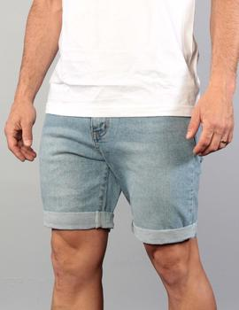 FRENZY DENIM SHORT - Pacific Blue