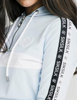 Sudadera Siksilk SKY TAPE TRACK TOP - Light Blue