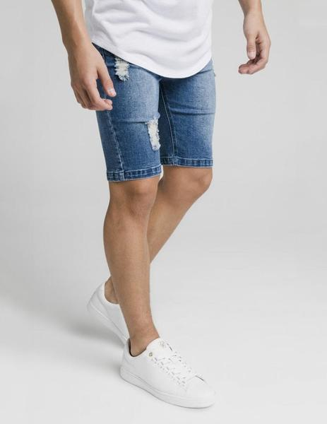 Bermuda DISTRESSED DENIM - Midstone