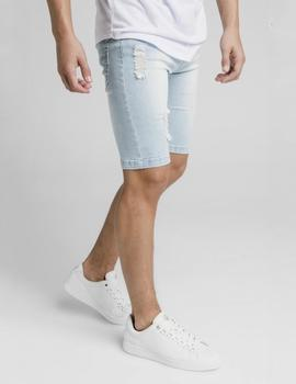 Bermuda DISTRESSED DENIM - Light Blue