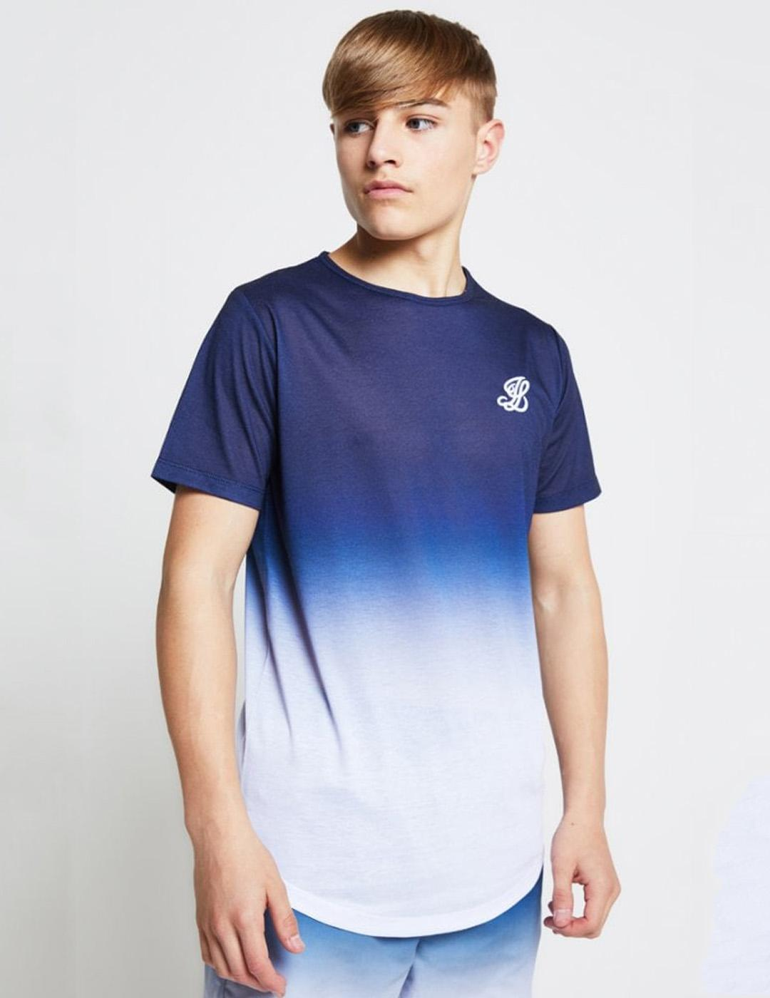 Camiseta FADE - Navy/White