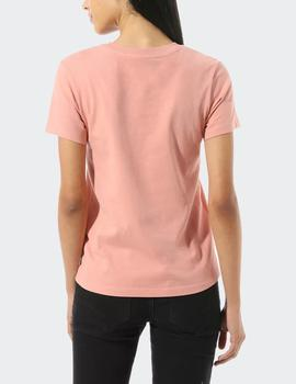 Camiseta Vans FLYING V CREW - Rosa
