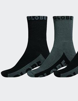 Calcetines Globe CREW SOCK 5PK - Black/Grey