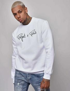 Sudadera Crew Project X Paris 1920009 LOGO - Blanco