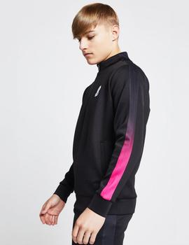 Sudadera FADE PANEL 1/4 ZIP - Black/Pink