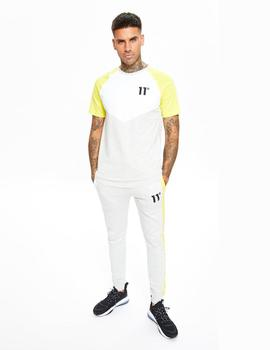 Camiseta Eleven CUT AND SEW CHEVRON MUSCLE FIT - Yellow /