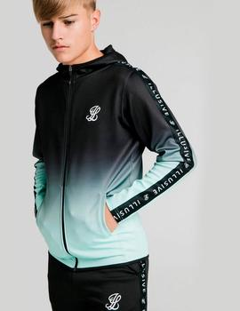 Sudadera ILLUSIVE LONDON FADE SCOPE ZIP - Black/Mint