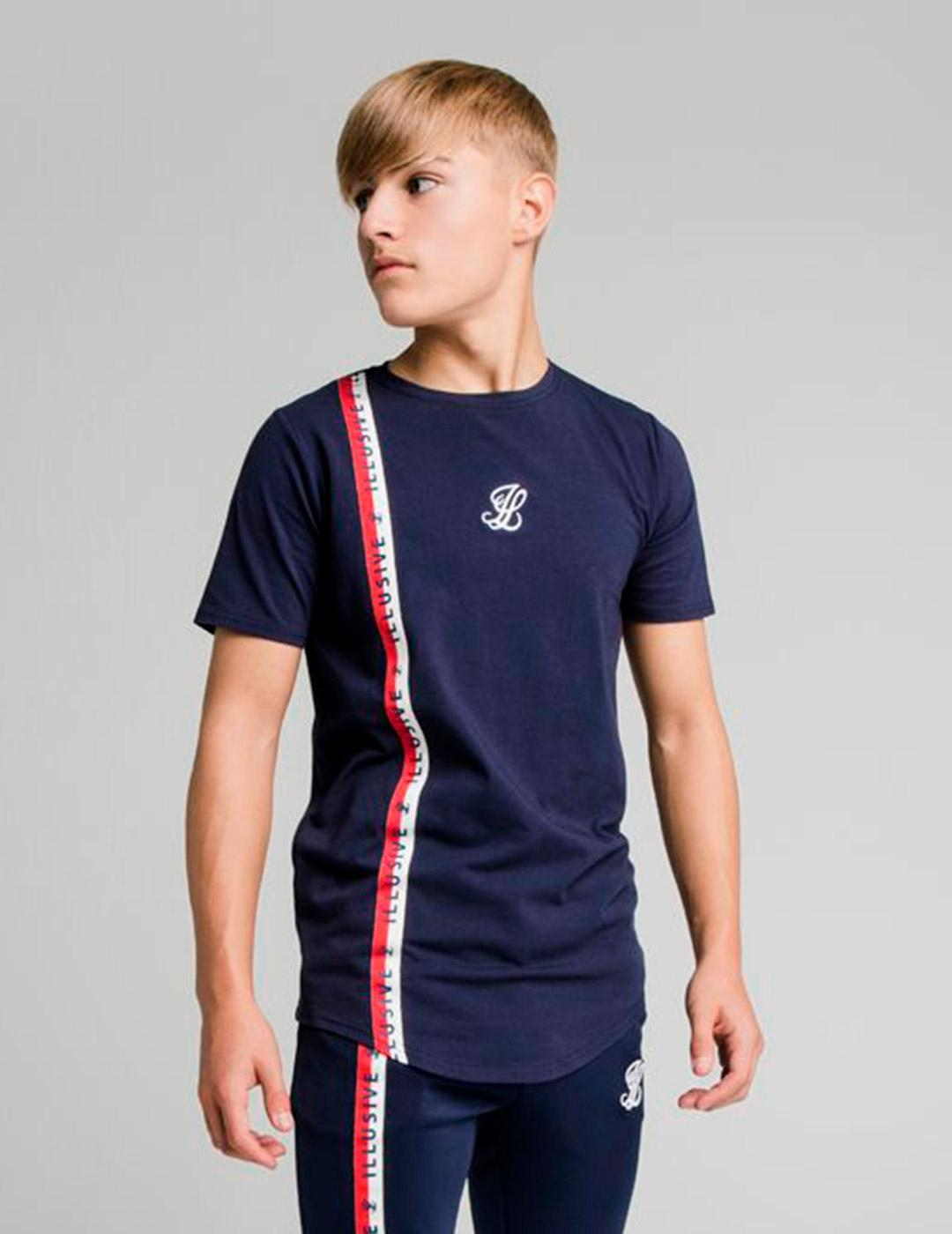 Camiseta Illusive London SIDE TAPE - Navy
