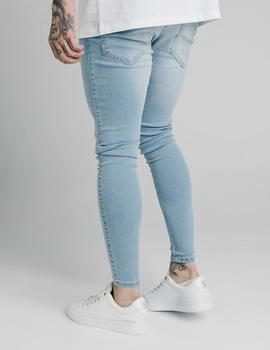 Pantalón SikSilk SKINNY DENIM - Light blue