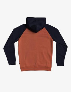 Sudadera Quiksilver (JUNIOR)  EASY DAY ZIP - Teja/Marino