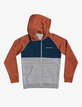 Sudadera Quiksilver (JUNIOR) EASY DAY Z SCREEN - Gris/Teja