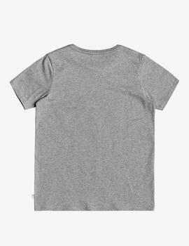 Camiseta Quiksilver (JUNIOR) LIKE WATER - Gris Vigoré