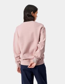 Sudadera W CARHARTT SWEAT - Frosted Pink/Black