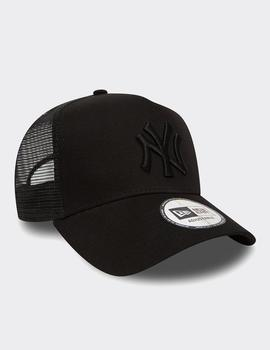 Gorra New Era NY CLEAN TRUCKER - Black/Black