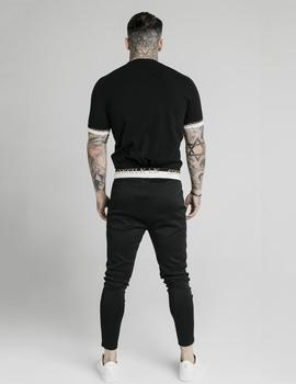 Camiseta SikSilk DELUXE RAGLAN TECH - Black