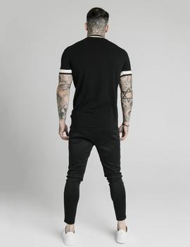 Camiseta SikSilk DELUXE STRAIGHT - Black