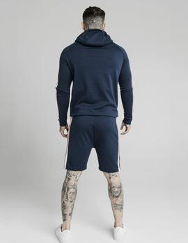 Sudadera SikSilk CAPUCHA RETRO TAPE - Navy
