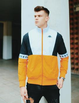 Chaqueta Kappa DARREN - Yellow Ochre Black White