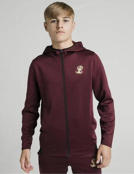 Sudadera ILLUSIVE LONDON AGILITY ZIP THROUGH - Burgundy