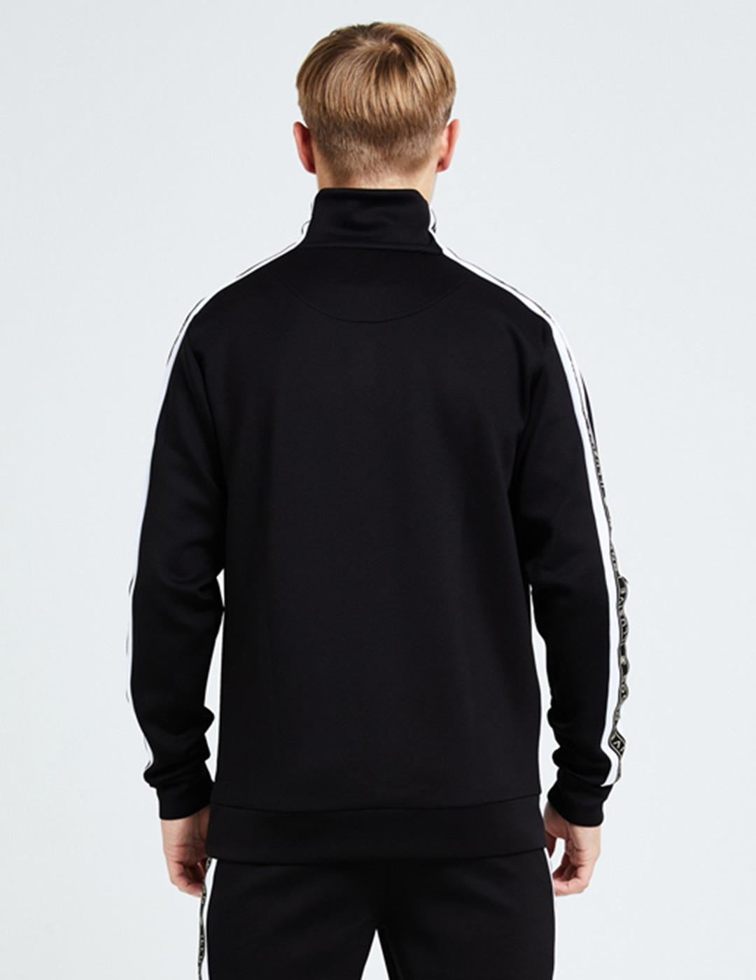 Sudadera illusive London DIVERGE 1/4 ZIP - Black-White