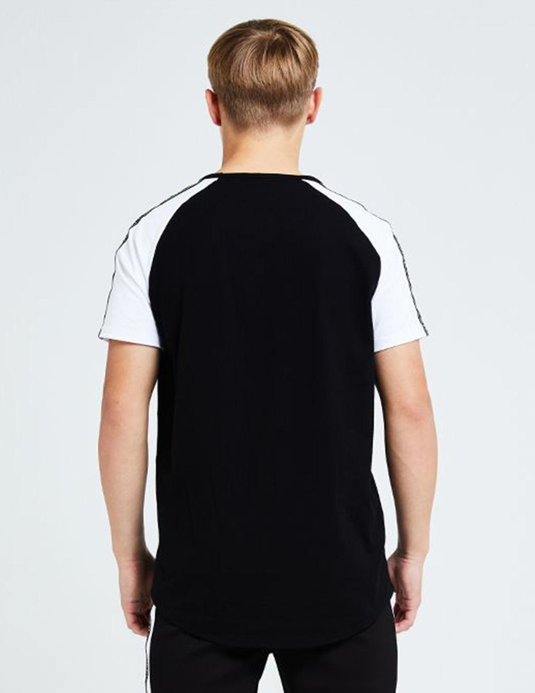 Camiseta Illusive London DIVERGE RAGLAN - Black-White