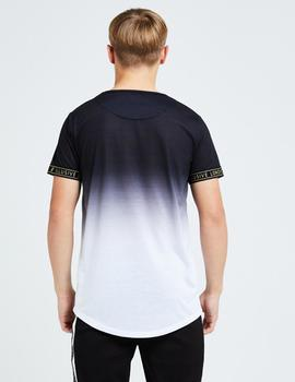 Camiseta Illusive London DIVERGE FADE TECH - Black-White