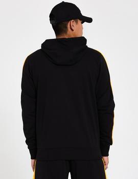 Sudadera STRIPE PIPING LA LAKERS - Negro