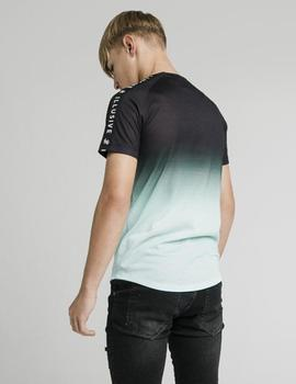 Camiseta Illusive London TAPE FADE LOGO - Black Mint
