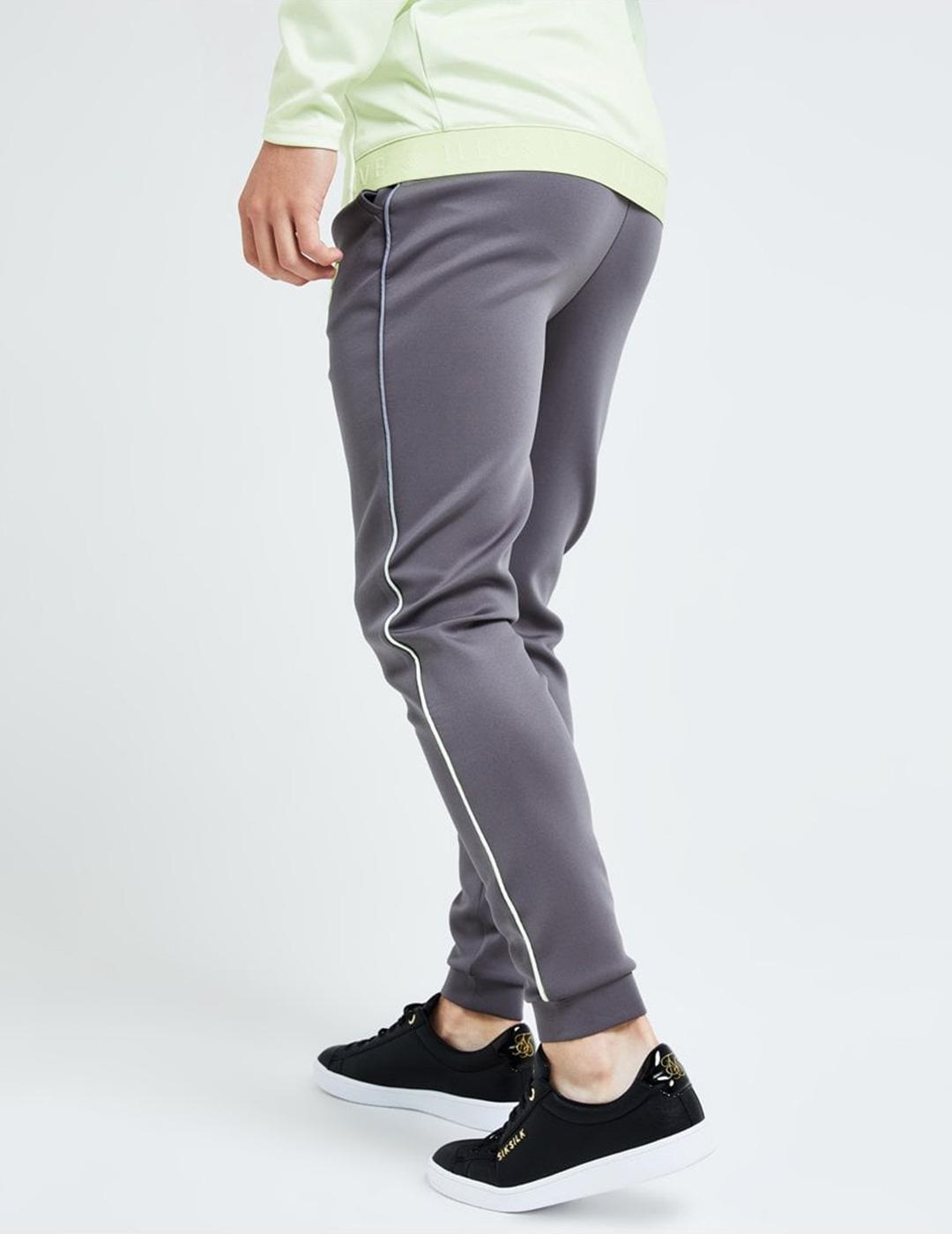 Pantalón Illusive BLAZE FADE PIPING JOGGER - Dark Grey Lime