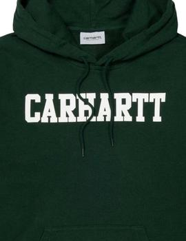 Sudadera Carhartt COLLEGE SWEAT HOODED - LODEN WHITE