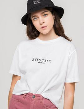 Camiseta Kaotiko EYES TALK - Blanco