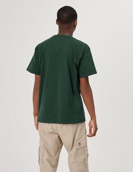 Camiseta Carhartt CHASE SS - Dark Teal Gold