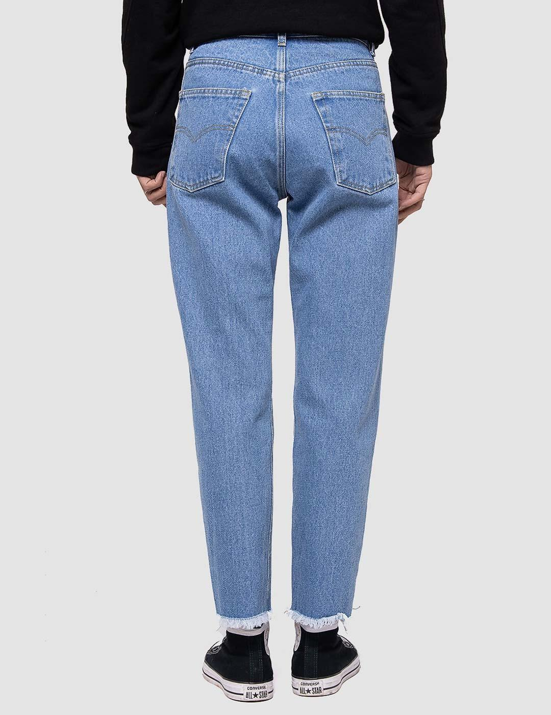 Pantalón Kaotiko CROPPED STRIGHT - Denim