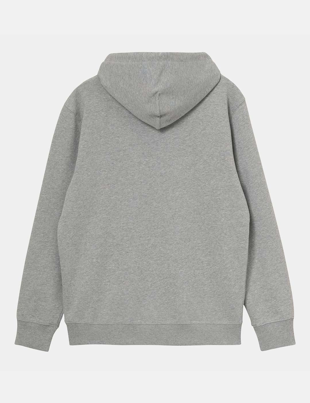 Sudadera Capucha Carhartt UNIVERSITY - Grey Heather / White