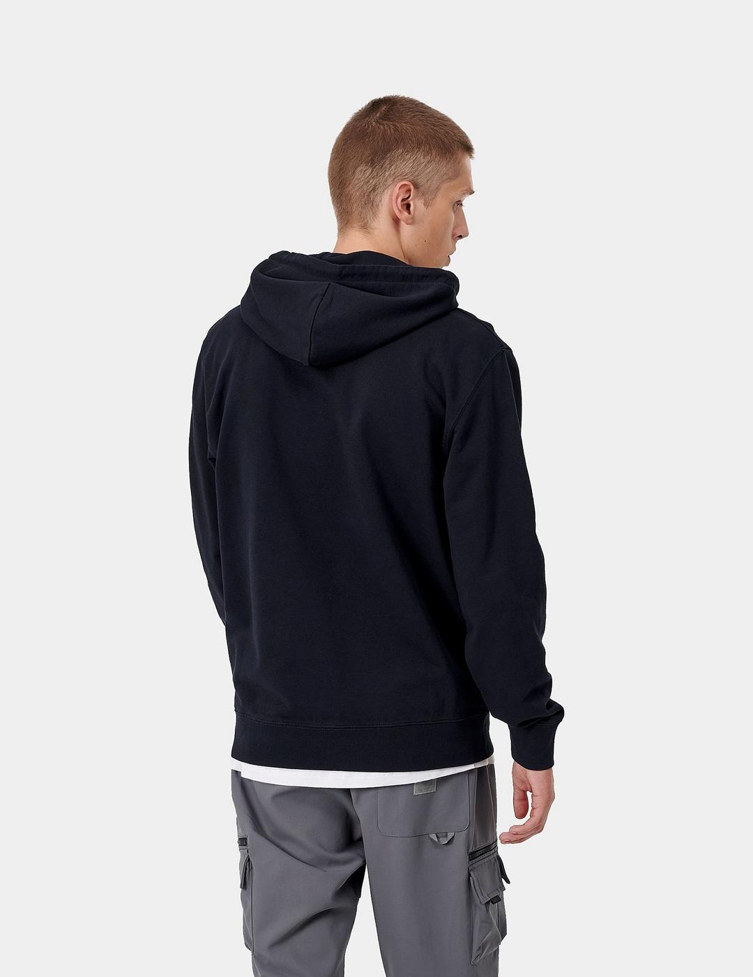 Sudadera Capucha Carhartt UNIVERSITY - Dark Navy / White