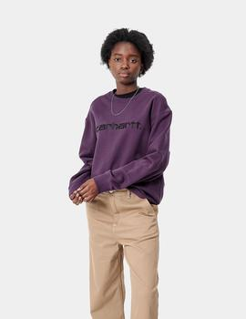 Sudadera Crew W' CARHARTT SWEAT - Boysenberry / Bl