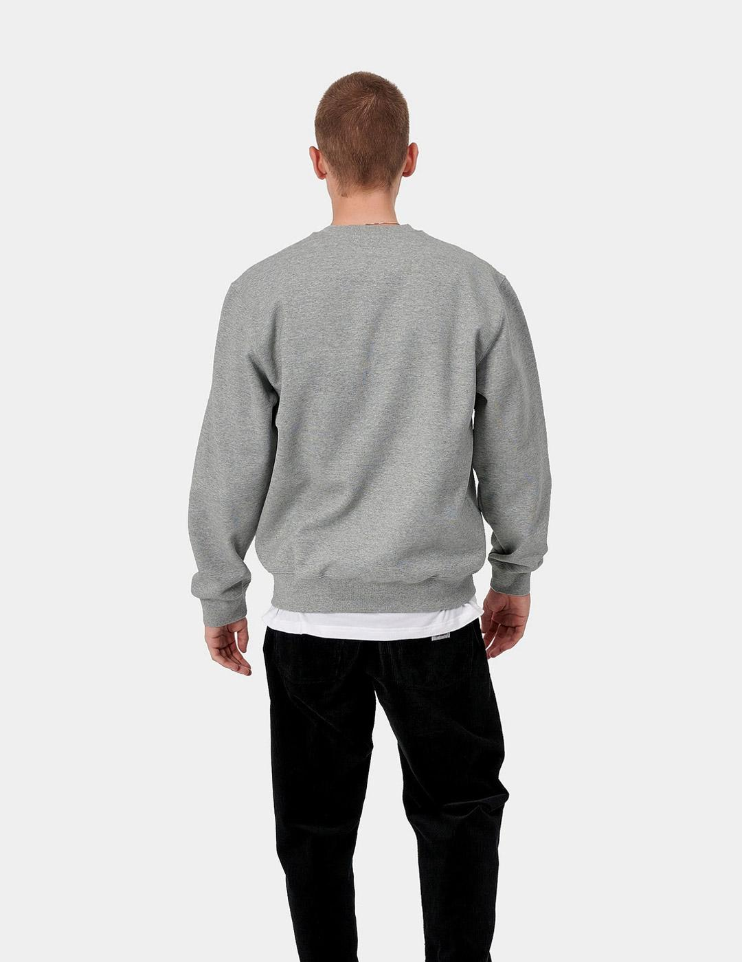 Sudadera Crew CARHARTT SWEAT - Grey Heather / Blac