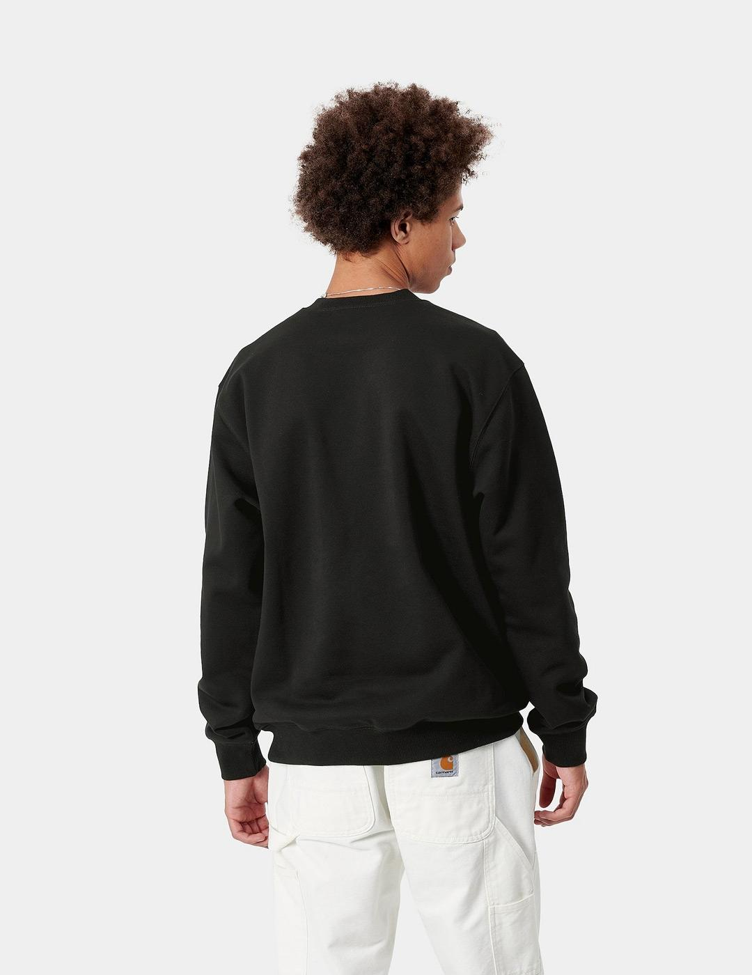 Sudadera Crew CARHARTT SWEAT - Black / White