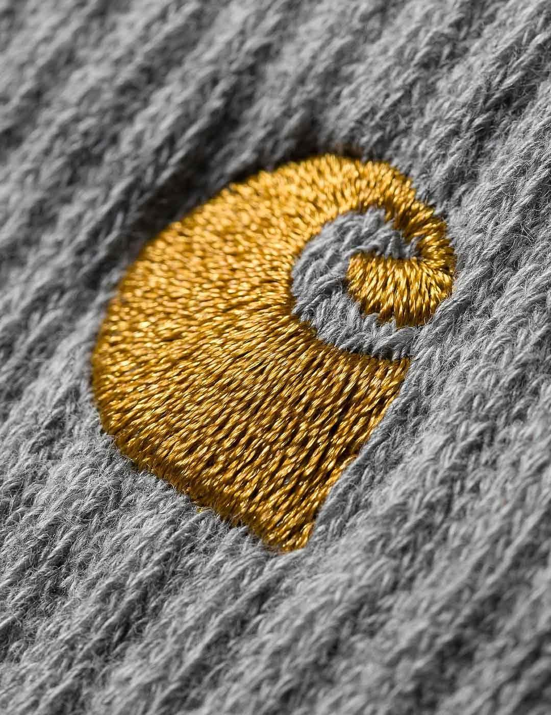 Calcetines Carhartt CHASE - Grey Heather / Gold