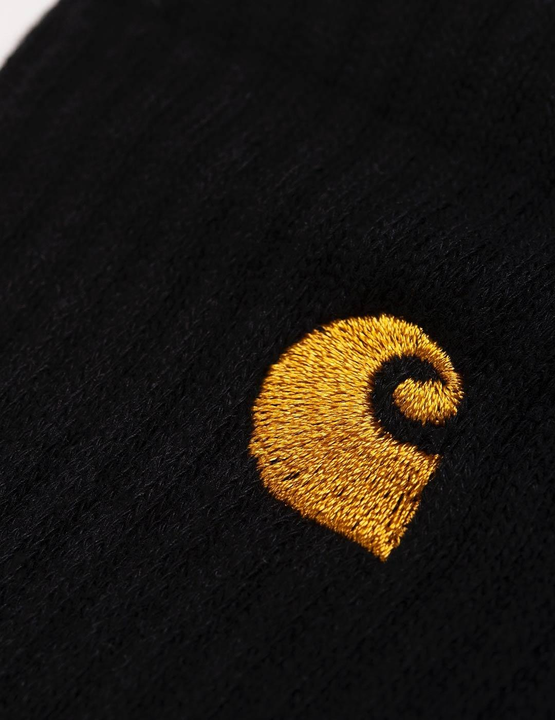 Calcetines Carhartt CHASE - Black / Gold
