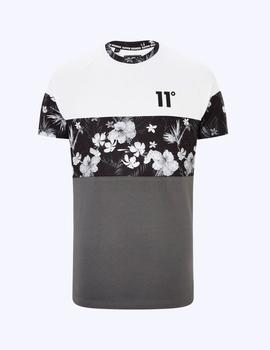 Camiseta TRIPLE PANEL FLORAL MUSCLE FIT - Wh Bl Fl