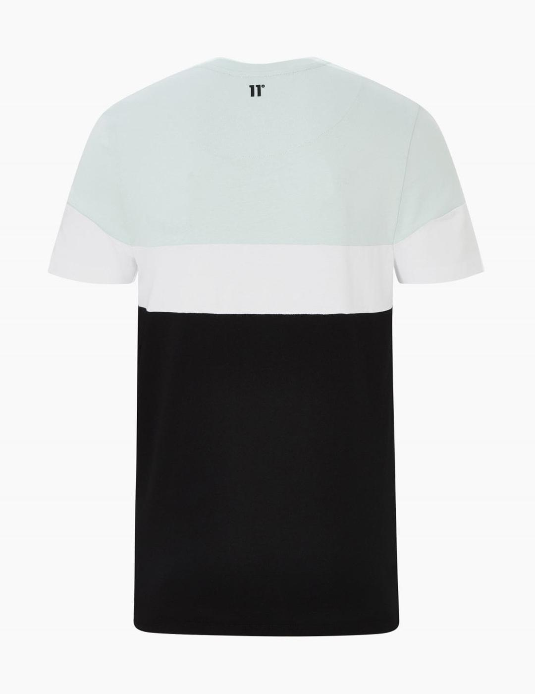 Camiseta Eleven TRIPLE PANEL CUT AND SEW - Glacier/Black/