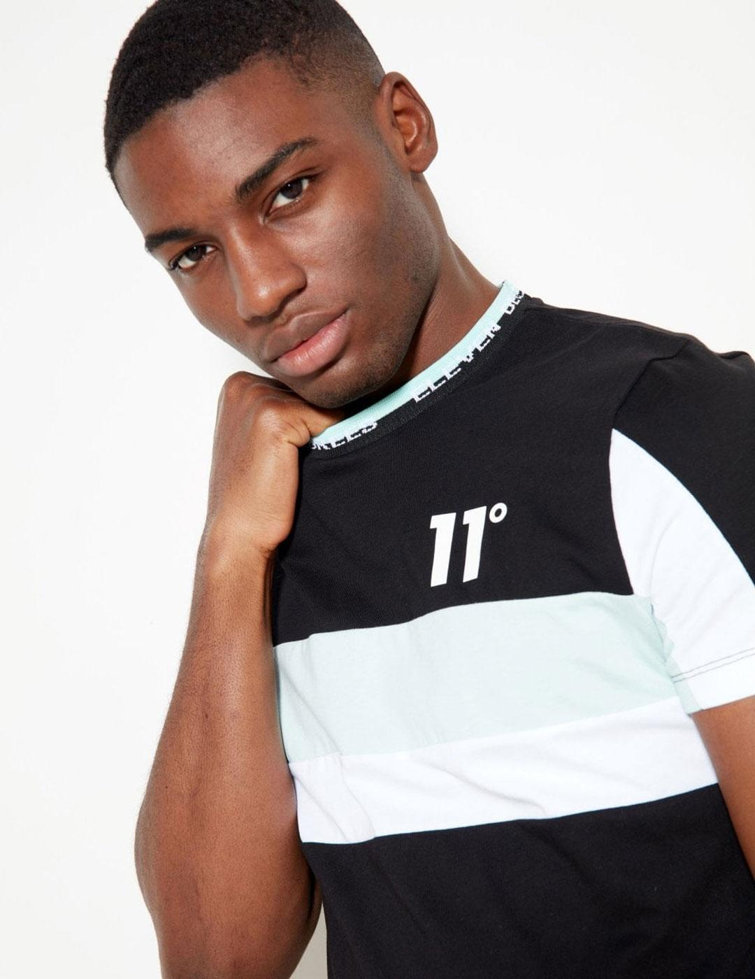 Camiseta Eleven CUT AND SEW - Black/Gracier/White