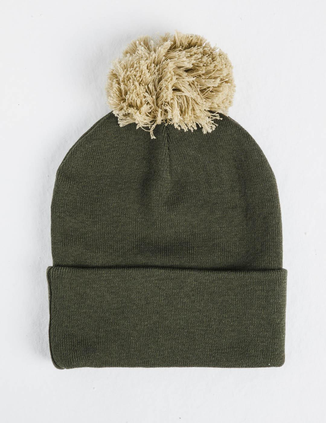 Gorro CUFF KNIT BOBBLE HAT - KHAKI